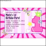 1st Birthday Girl Fun Personalized Invitations at Birthday