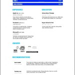 3D Designer PSD Resume Template