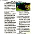 4 Day Sample Travel Itinerary Template