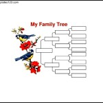 4 Generation Family Tree with Birds Sample Word Template