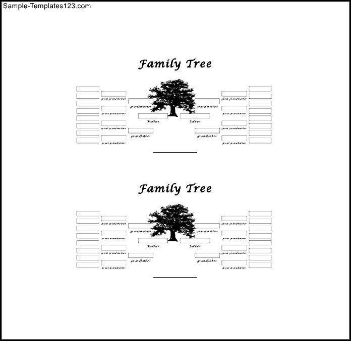 5 Generation Family Tree Template Larbre 9 Gnrations Noir Et