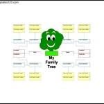 5 Generation Kids Family Tree Example PDF Free
