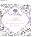 50th Birthday Invitation Download