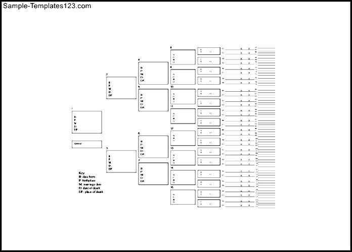 7 Generation Family Tree Template Arbre Gnalogique Ascendance 10
