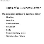 7 Parts of a Business Letter