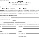 A Child Medical Consent Form