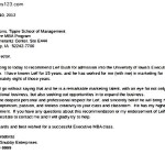 A College Reference Letter in Doc Download