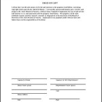 AMES Deed Of Gift Form