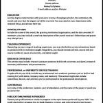Academic CV Template Download