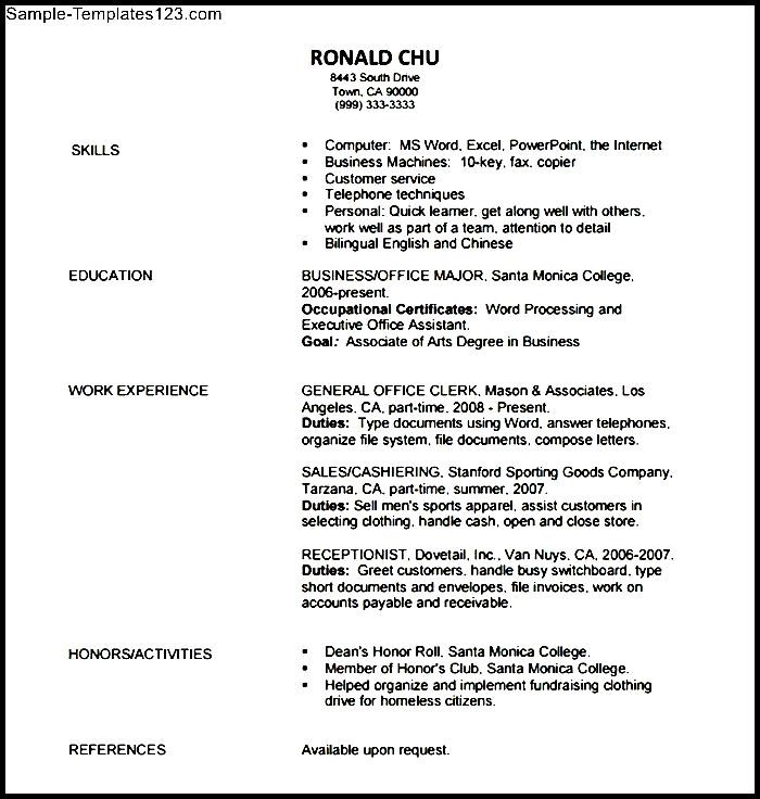 accounting resume objective  sample templates  sample