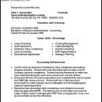 Accounting Resume Template Microsoft Word