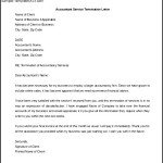 Accounting Service Termination Letter Template Word Doc