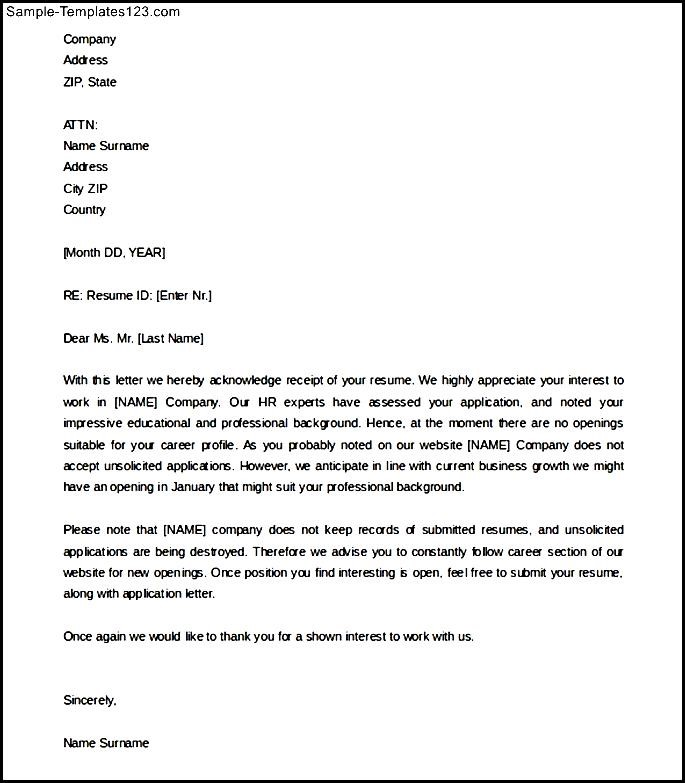 Acknowledgement Receipt Letter Template.Acknowledgement Letter Sample For Receipt Of Resume Sample