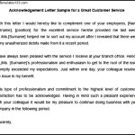 Acknowledgement Letter Sample for a Great Customer Service