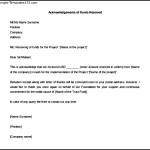 Acknowledgement Letter of Funds Received Word Format