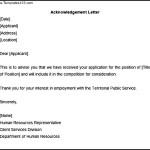 Acknowledgement Sample Application