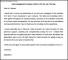 Acknowledgement Sample Letter for On the Job Training