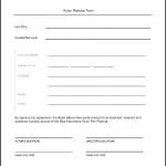 Actor Release Form To Download