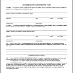 Advance Health Care Directive Form