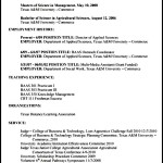 Agriculture Resume Format
