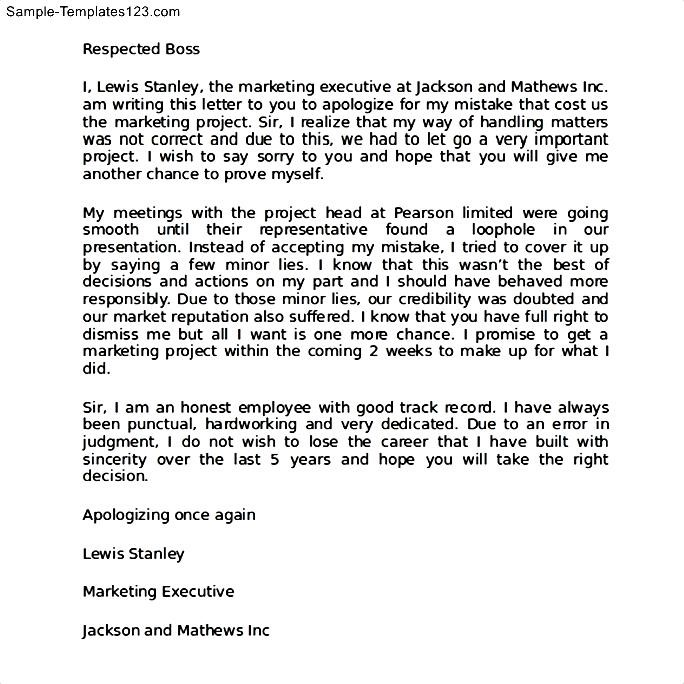 Apology letter for bad behavior at work sample templates sample apology letter for bad behavior at work spiritdancerdesigns Gallery
