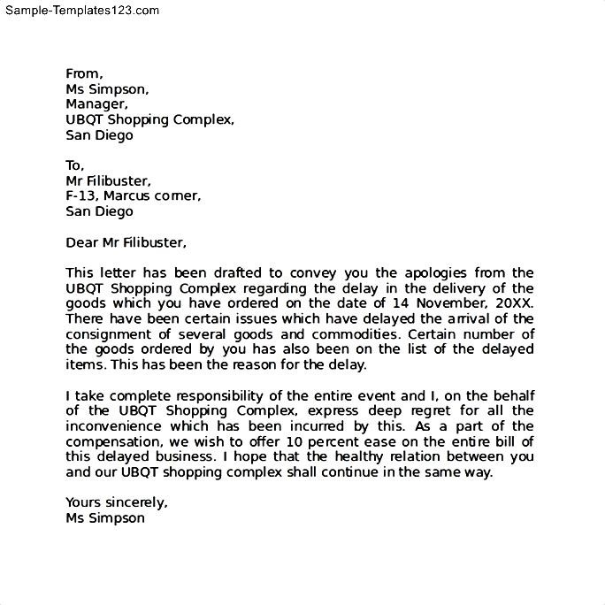 Sample Of Apology Letter To Boss Professional Apology Letter Free