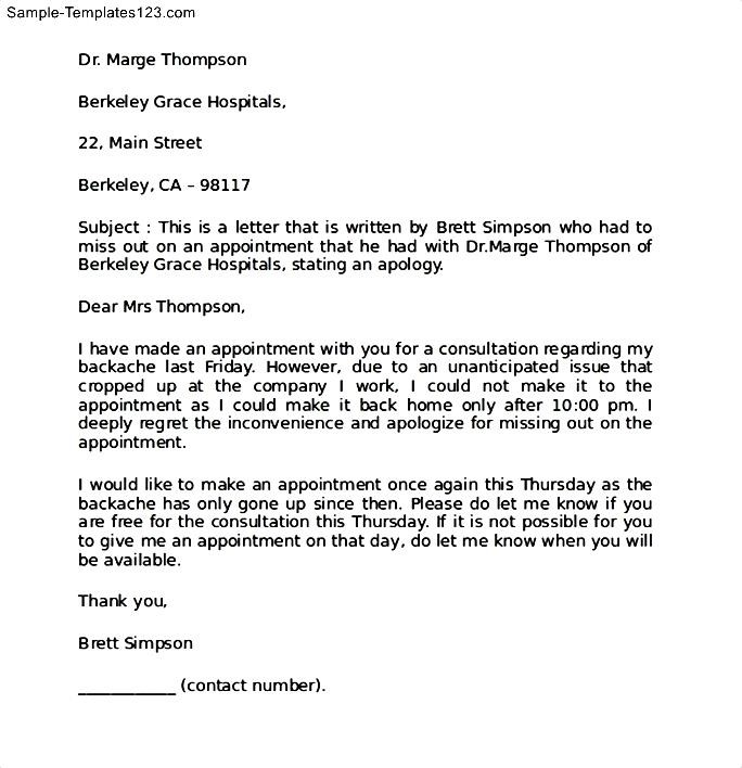 apology letter for changing an appointment meeting There is an acceptable structure for writing professional letters as noted in the  by requesting the future interview or meeting interview confirmation letter.