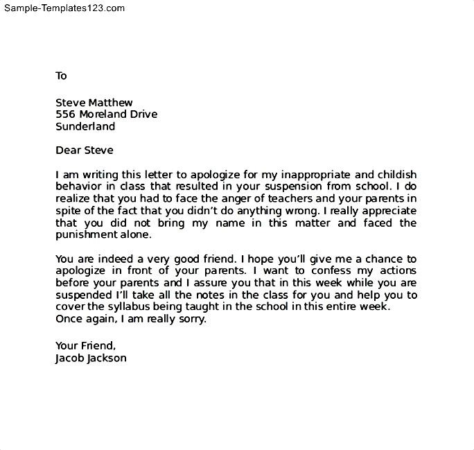 Sample Apology Letter To Parents Apology Letter To Parents Template