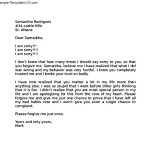 Apology Letter to Girlfriend After Fight