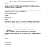 Appeal Letter Template for Health Insurance PDF Format