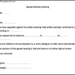 Appeal Meeting Warning Letter Template