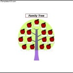 Apples Family Tree Template for Kids Sample Template