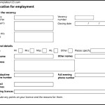 Application Form For Employee