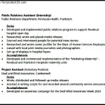 Arts Public Relations Resume PDF