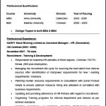 Assistant Manager HR Resume Example