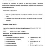 Assistant Manager Human Resource Sample Resume