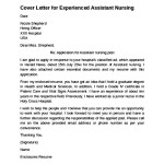 Assistant Nursing Cover Letter for Experienced