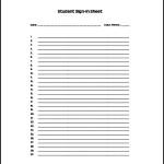 Attendance List Template Sample