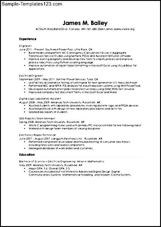 audio visual engineer resume - sample templates