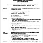Automobile Resume Free PDF