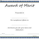 Award of Merit Certificate Template