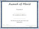 Award of Merit Certificate Template