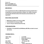 BPO Call Centre Resume Template Format