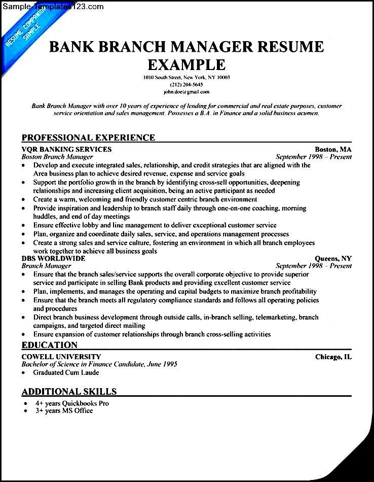 Sample Bank Manager Resume Bank Manager Resume Samples Banking