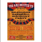 Baseball Ticket Invitation Template Sample