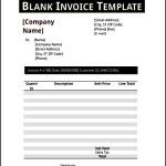 Basic Blank Invoice Template PDF