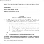 Basic Durable Power Attorney Form