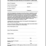 Basic Model Release Form