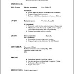 Basic Resume Format In Word