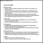 Basic Resume Template Free PDF